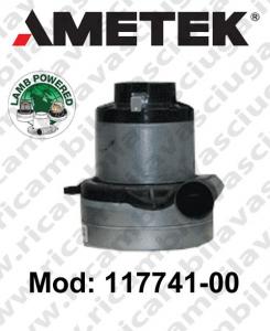 Motore de aspiración Lamb Ametek 117741-00  para sistemas de extracción centralizados