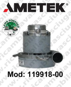 Motore de aspiración Lamb Ametek 119918-00 para sistemas de extracción centralizados