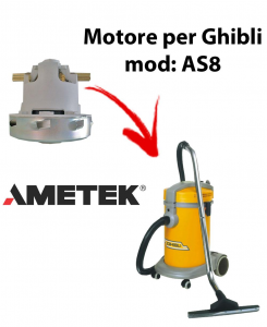 AS8  Motore de aspiración AMETEK para aspiradora GHIBLI
