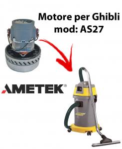 AS27  Motore de aspiración AMETEK para aspiradora y aspiradora húmeda GHIBLI