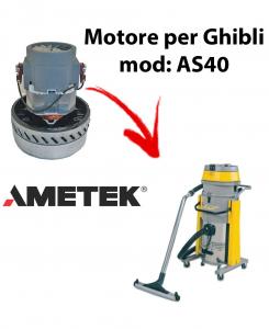AS40  Motore de aspiración AMETEK para aspiradora y aspiradora húmeda GHIBLI