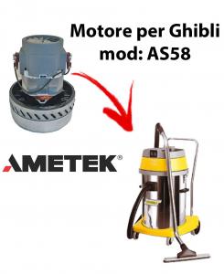 AS58  Motore de aspiración AMETEK para aspiradora y aspiradora húmeda GHIBLI