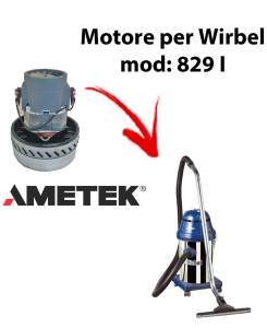 829 I  Motore de aspiración AMETEK para aspiradora y aspiradora húmeda WIRBEL