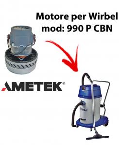 990 P CBN Motore de aspiración AMETEK para aspiradora y aspiradora húmeda WIRBEL
