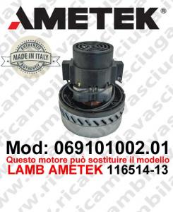 Motore de aspiración 069101002.01 AMETEK ITALIA para fregadora ,puede reemplazar el motor LAMB AMETEK 116514-13