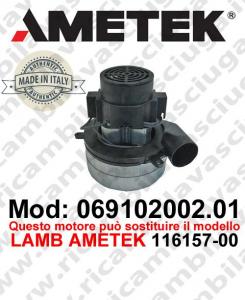 Motore de aspiración 069102002.01 AMETEK ITALIA para fregadora ,puede reemplazar el motor LAMB AMETEK 116157-00