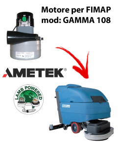 GAMMA 108 Motore de aspiración AMETEK para fregadora FIMAP