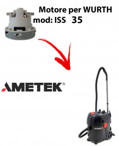 ISS 35 automatic Motores de aspiración AMETEK para aspiradoras WURTH