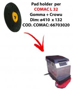 Discos de arrastre ( pad holder) para fregadora COMAC L 32.