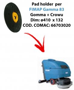 Discos de arrastre ( pad holder) para fregadora FIMAP Gamma 83 (old version).