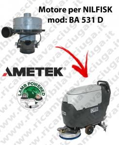 BA 531 D Motore de aspiración LAMB AMETEK para fregadora NILFISK