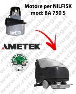 BA 750 S Motore de aspiración LAMB AMETEK para fregadora NILFISK