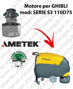 SERIE S3 110D75 Motore de aspiración LAMB AMETEK para fregadora GHIBLI
