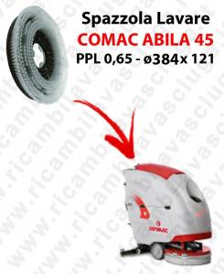 CEPILLO DE LAVADO  para fregadora COMAC ABILA 45. modelo: PPL 0,65  ø384 X 121