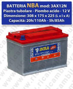 3AX12N Batteria piombo - NBA 12V 110Ah 20/h