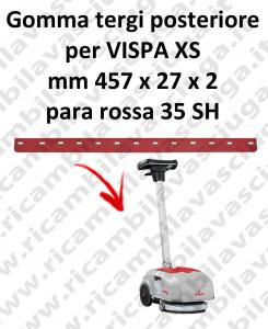 VISPA XS goma de secado trasero para COMAC repuestos fregadoras squeegee