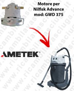 GWD 375  Motore de aspiración AMETEK para aspiradora Nilfisk Advance