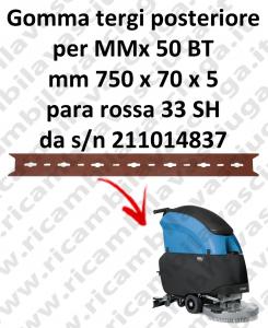 MMx 50 BT goma de secado trasero para FIMAP  repuestos fregadoras squeegee