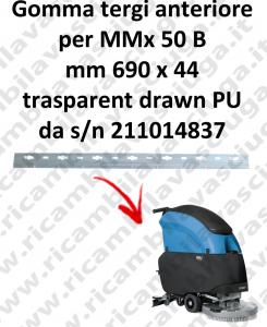 MMx 50 B goma de secado delantera para FIMAP repuestos fregadoras squeegee