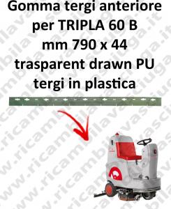 TRIPLA 60 B goma de secado delantera para COMAC repuestos fregadoras squeegee