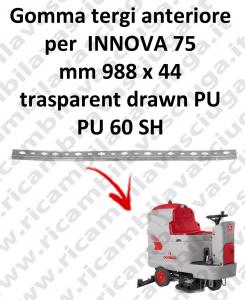 INNOVA 75 B goma de secado delantera para COMAC repuestos fregadoras squeegee