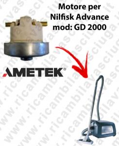 GD 2000  Motore de aspiración AMETEK  para aspiradora Nilfisk Advance