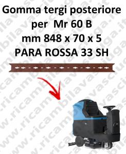 Mr 60 B gomas de secado trasera para FIMAP repuestos fregadoras squeegee