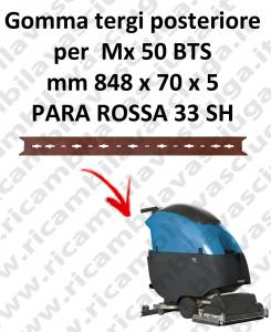 Mx 50 BTS gomas de secado trasera para FIMAP repuestos fregadoras squeegee