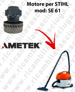 SE 61 Motore de aspiración AMETEK  para aspiradora STIHL