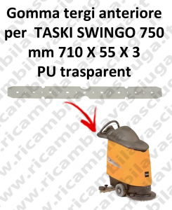 SWINGO 750  goma de secado delantera para TASKI repuestos fregadoras squeegee