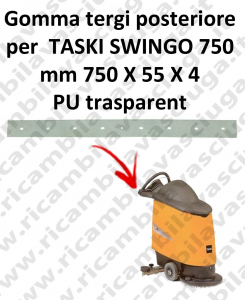 SWINGO 750  goma de secado trasero para TASKI repuestos fregadoras squeegee