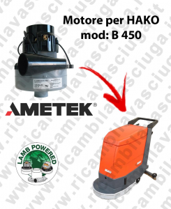 B 450 Motore de aspiración LAMB AMETEK para fregadora HAKO