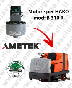 B 310 R Motore de aspiración LAMB AMETEK para fregadora HAKO