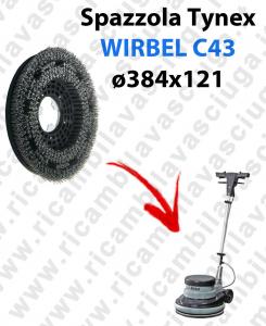 Cepillo TYNEX  para Monodisco WIRBEL C43. modelo: tynex  ø 384 X 121