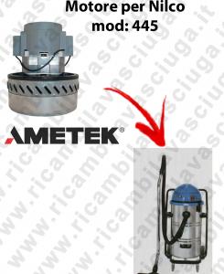 445  Motore de aspiración AMETEK para aspiradora NILCO