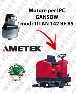 TITAN 142 BF 85 Motore de aspiración LAMB AMETEK para fregadora IPC GANSOW
