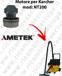 NT200 Motore de aspiración AMETEK  para aspiradora KARCHER