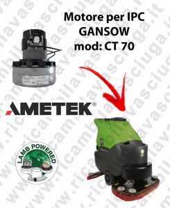 CT 70 Motore de aspiración LAMB AMETEK para fregadora IPC GANSOW