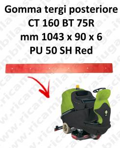 CT 160 BT 75R goma de secado trasero para escobilla de goma IPC