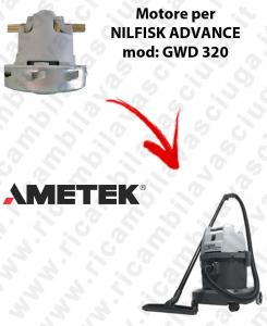 GWD 320 Motore de aspiración AMETEK para aspiradora NILFISK ADVANCE