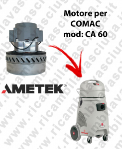 CA 60 Motore de aspiración AMETEK para aspiradora y aspiradora húmeda COMAC