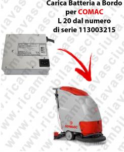 Carica Batteria a Bordo para fregadora COMAC L 20 dal numero di serie 113003215