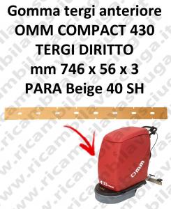 430 COMPACT goma de secado delantera para escobilla de goma diritto OMM