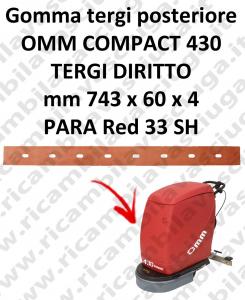 430 COMPACT goma de secado trasero para escobilla de goma diritto OMM
