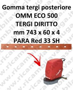 ECO 500 goma de secado trasero para escobilla de goma diritto OMM