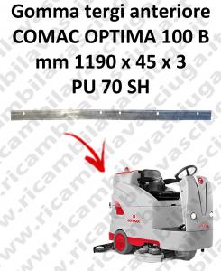 OPTIMA 100B goma de secado delantera para escobilla de goma COMAC