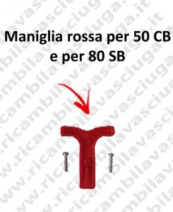 Maniglia rojo para 50 CB y para 80 SB