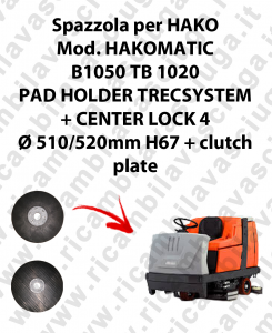 PAD HOLDER TRECSYSTEM  para fregadora HAKO modelo HAKOMATIC B1050 TB 1020