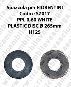 CEPILLO DE LAVADO PPL 0.6 WHITE para fregadora FIORENTINI codice SZ017