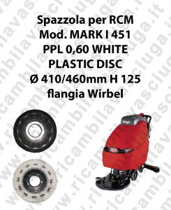 CEPILLO DE LAVADO PPL 0.6 WHITE para fregadora RCM modelo MARK I 451